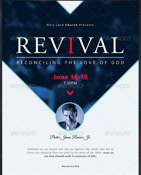 19 revival flyers free psd ai eps format downloads