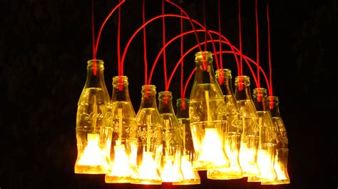 Coke Bottle Chandelier Recycled Coca Cola Bottles Made Into A Chandelier