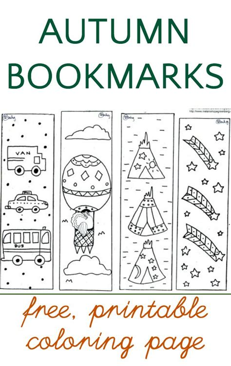 printable autumn bookmarks to color free thanksgiving coloring page bookmarks