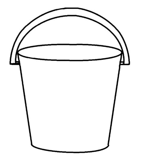 bucket hat coloring page bucket templates clipart