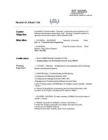 Telecommunication Resume by Telecom Engineer Cv