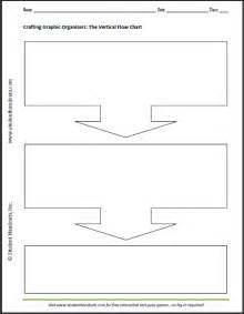 graphic organizer template free printable blank vertical flow chart student handouts