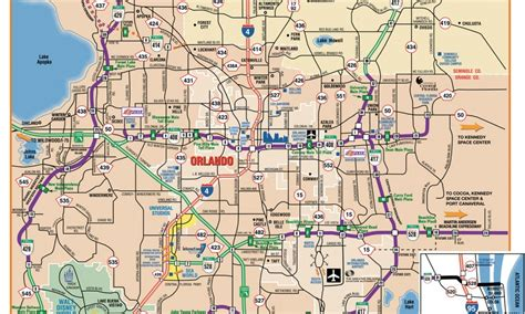 printable orlando area map related keywords suggestions for orlando city map