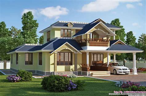 exquisite sloping roof villa design