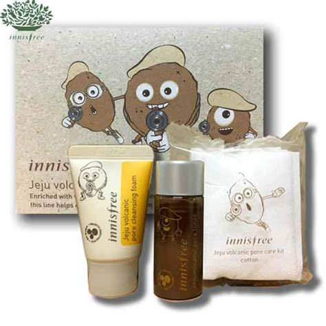Innisfree Apple Kit 3items Box Korea Mini Innisfree Jeju Volcanic Pore