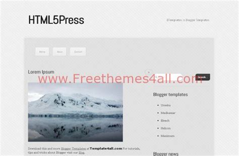 news blog html5 free blogger template theme download