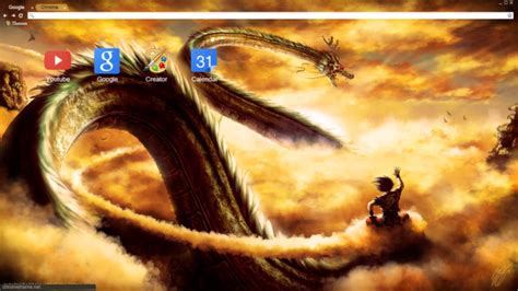 dragon ball z themes for google chrome dbz shenron chrome theme themebeta