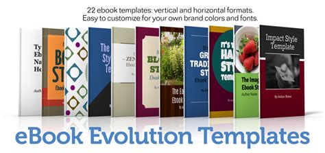ebook layout design templates presenting ebook evolution big brand system