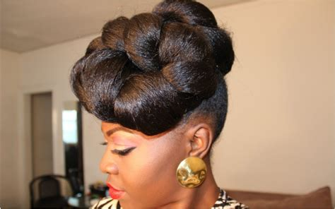 cute hairstyles relaxed hair cute protective hairstyle tutorial video black hair