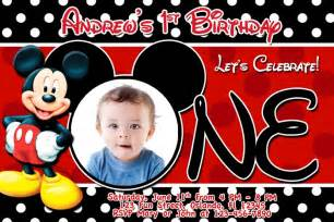 mickey mouse 1st birthday invitations christmanista