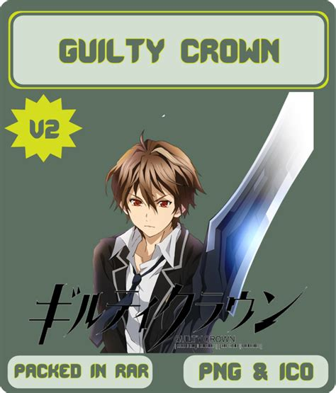 guilty crown anime icon by rizmannf on deviantart guilty crown v2 anime icon by rizmannf on deviantart