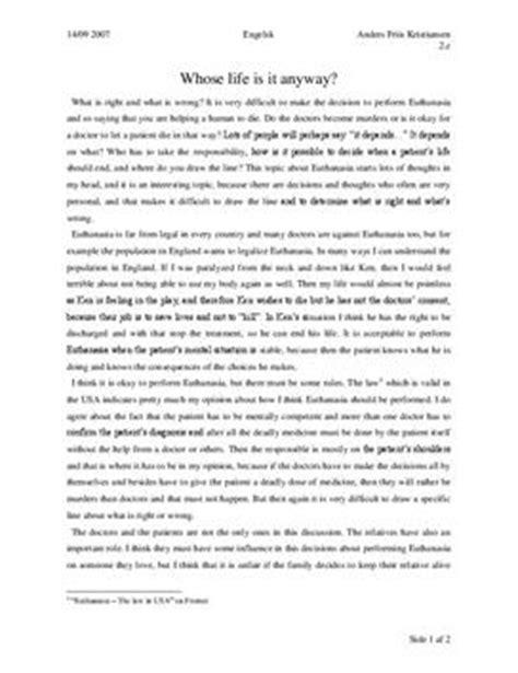 Essay Beispiel Englisch by Essay Whose Is It Anyway Englisch Lk Schulhilfe De