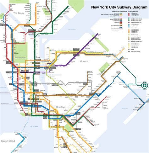 metro map nyc new york city subway station map new york map