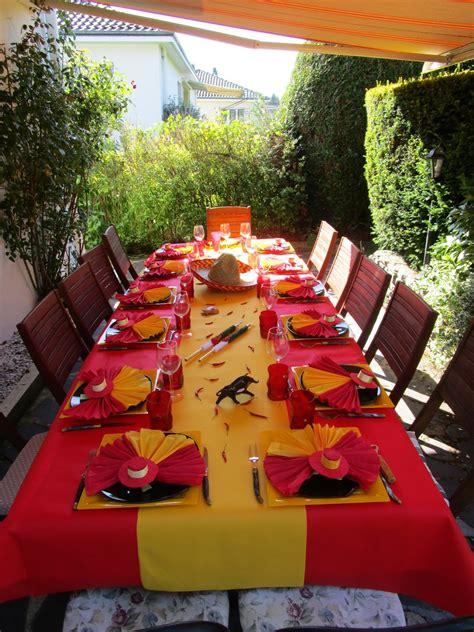 deco table d 233 co de table espagnole d 233 co de table 224 th 232 mes