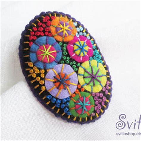 Melva Set 3in1 Violet Grey brooch butterfly color felt from svitloshop on etsy