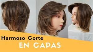 corte de cabello en capas corte en capas cabello corto leonardo ramirez youtube