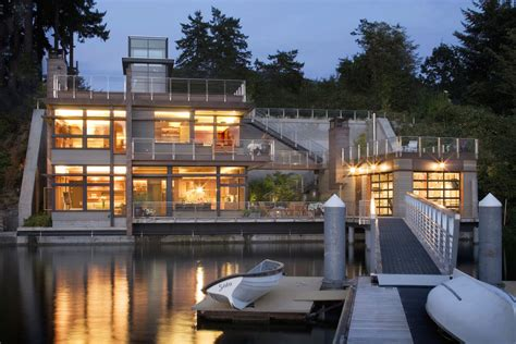 harbor house sustainable house on the water s edge idesignarch interior design architecture