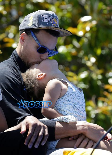 riley curry rides parade float at warriors championship