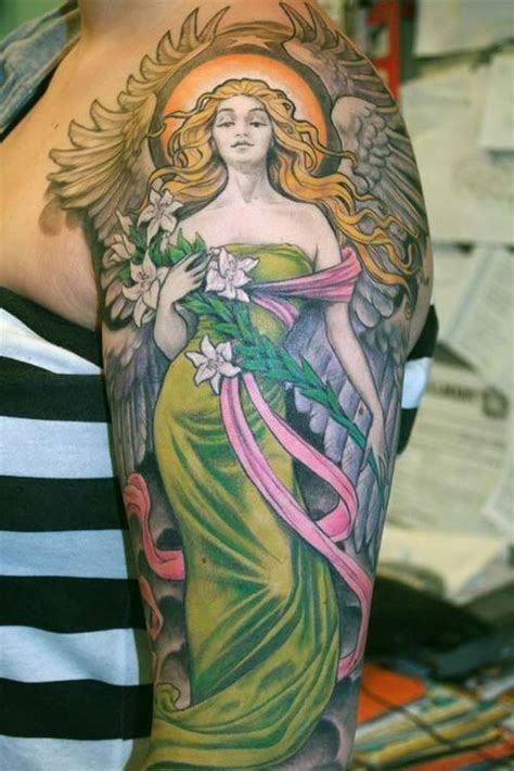 coloured angel tattoo 60 best angel tattoos meanings ideas and designs for 2018