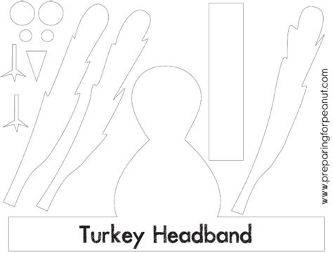 turkey craft template gallery turkey hat craft template