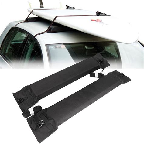 2x universal soft car roof rack cross bar load 60kg top