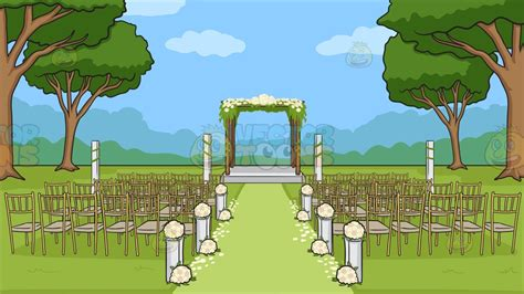Background Wedding Outdoor by An Outdoor Wedding Ceremony Venue Background