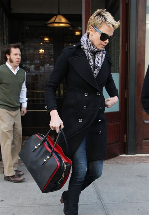 Charlize Theron With And Balenciaga Purses by The Many Bags Of Charlize Theron Page 3 Of 25 Purseblog