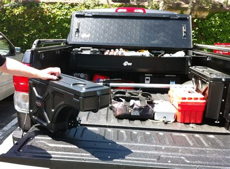 truck bed storage system a clever truck bed storage system tools of the trade