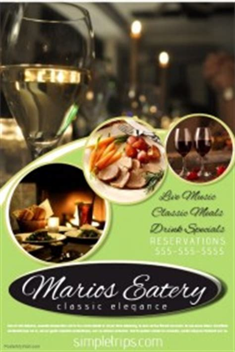 restaurant flyer templates postermywall