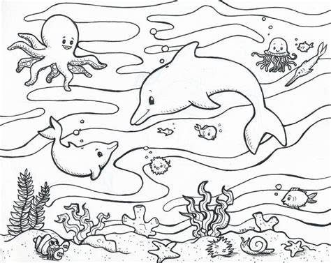 coloring page ocean animals sea animal coloring pages coloring home