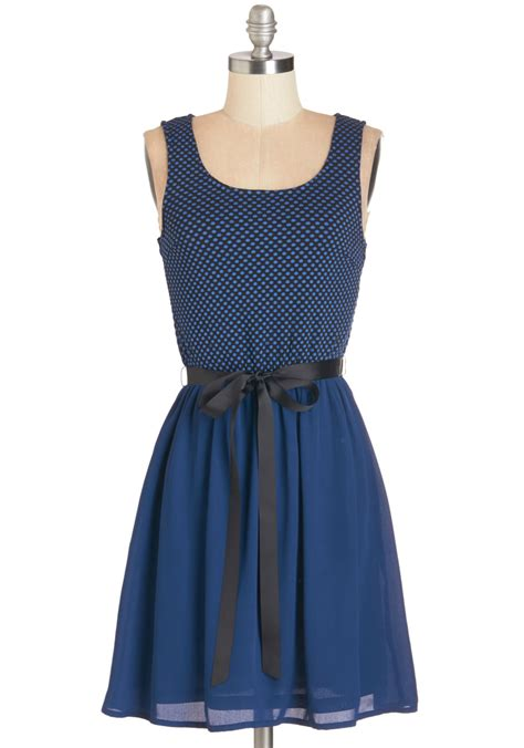 Modcloth Cqs New Vintage Obsession by Delight At Sight Dress Modcloth Dress Blues And
