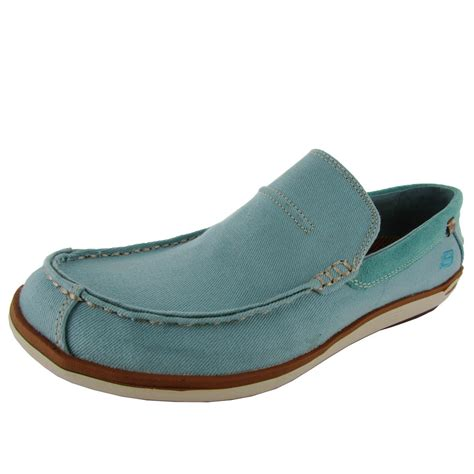 boat shoes fit skechers mens relaxed fit spencer 63680 slip on boat shoe