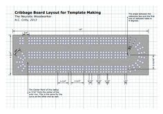 29 Cribbage Board Template by Cribbage Board Template
