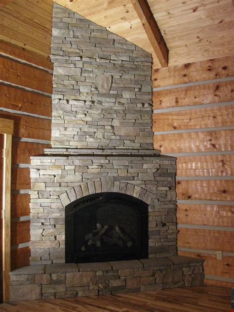 corner fireplace in stack barn board ideas