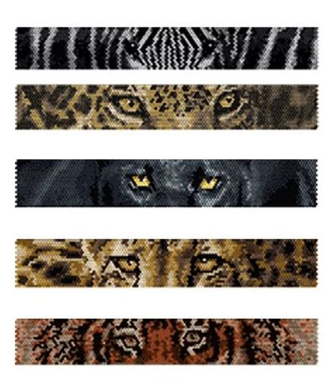 black jaguar pattern beaded zebra jaguar black panther cheetah tiger eyes
