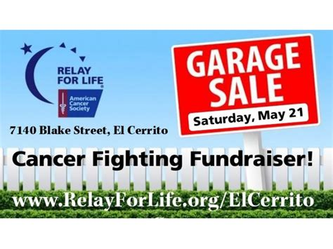 relay for garage sale patch
