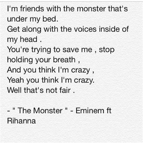 monster under my bed lyrics monster eminem quotes quotesgram