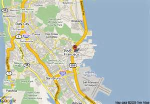 South San Francisco Map by Map Of Embassy Suites Hotel San Francisco Airport South
