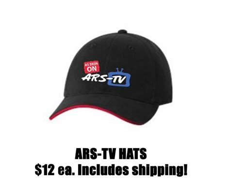 as seen on ars tv hats ars promotions