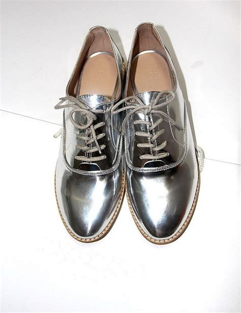 silver oxford shoes womens 2015 new arrival fashion style shiny silver closed