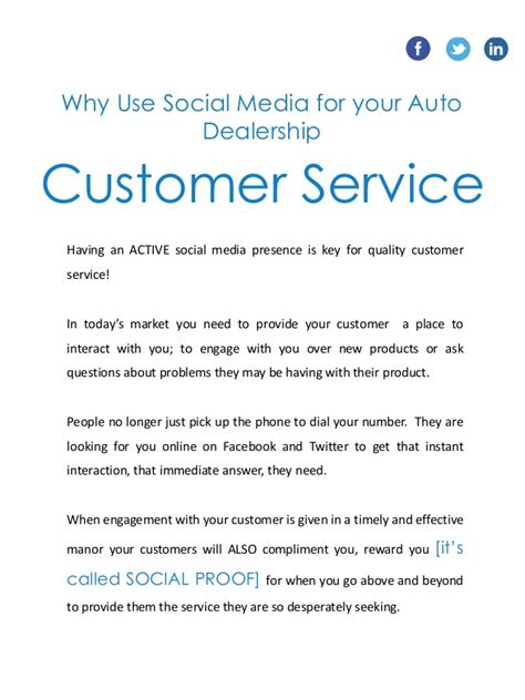 social media marketing proposal for an auto dealership