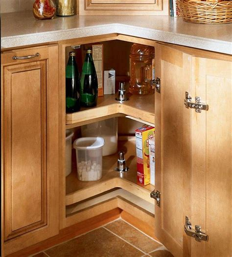 kitchen lazy susan corner cabinet storage solutions details easy reach wood lazy susan