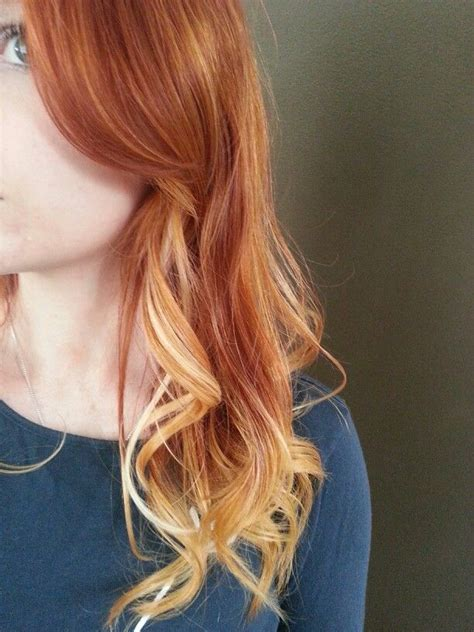ombre with red and blonde natural red to blonde ombre locks pinterest