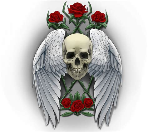 skull with wings tattoo designs skull tattoos page 63