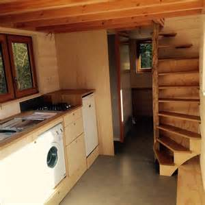 tiny house with loft la tiny house with smart staircase to loft