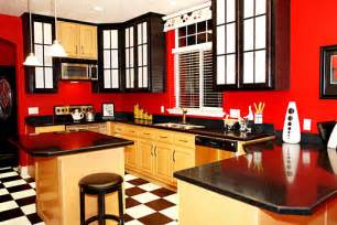 Black And Red Kitchen Ideas by Plushemisphere Kitchen Paint Colors Tips