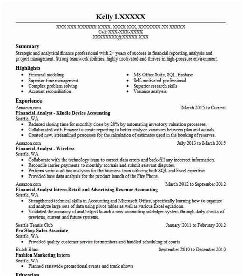 Resume Sles Of Financial Analyst Best Financial Analyst Resume Exle Livecareer