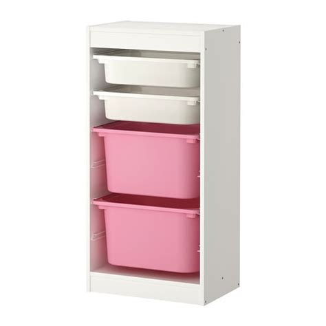 Geta Kotak Hitam Hanao Hijau trofast kombinasi penyimpan dgn kotak putih putih merah jambu ikea