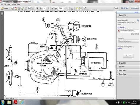 briggs and stratton 18 5 intek wiring diagrams wiring
