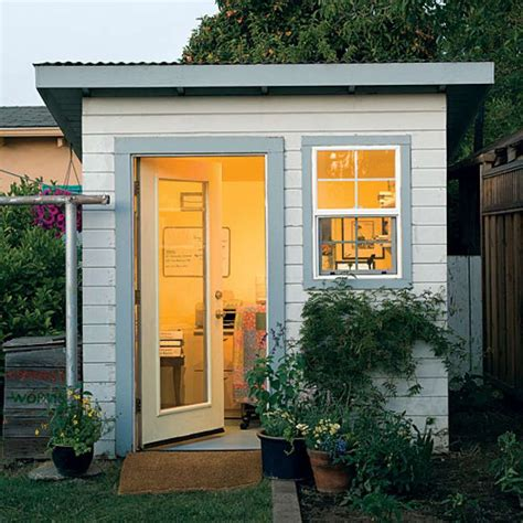 backyard shed office plans creative ideas for backyard retreats and garden sheds sfgate
